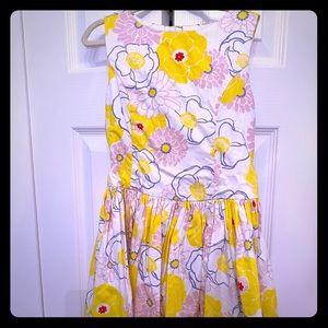 Yellow J Crew girls Dress